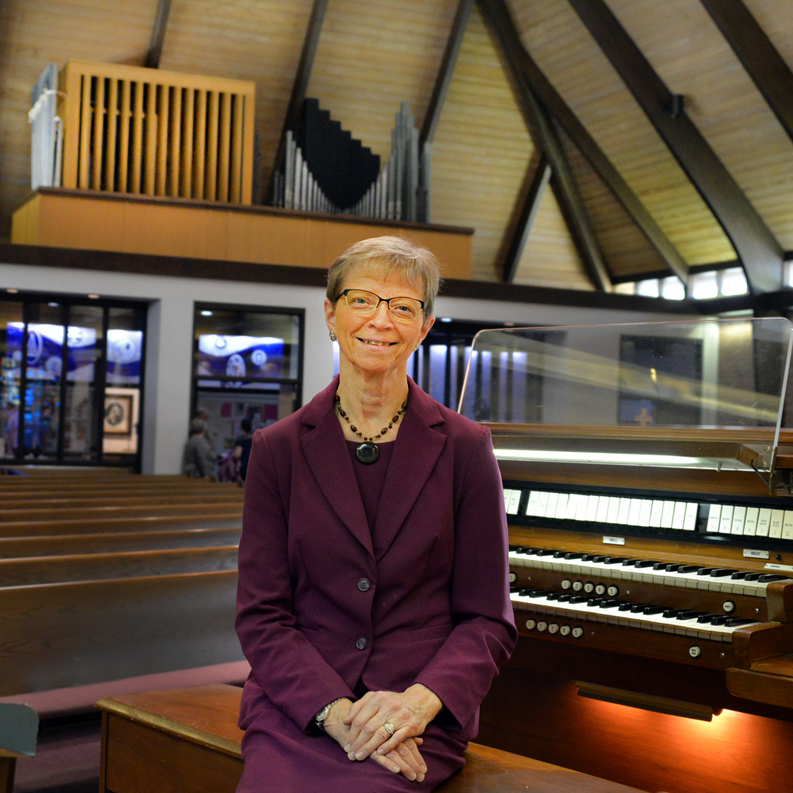 Ruth at organ 10-20-19