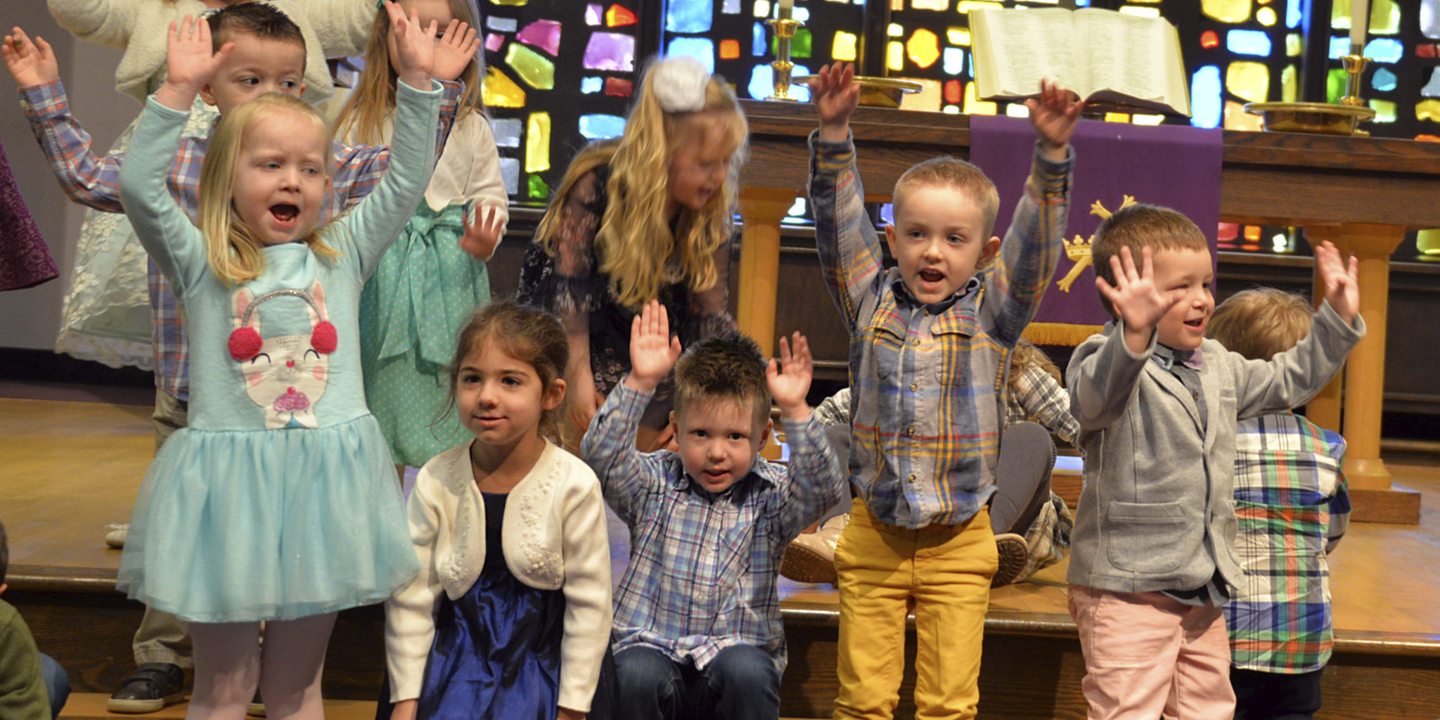 First Presby - Hands Raised Singing